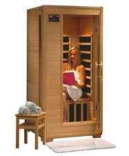 HeatWave 1 Person FAR Infrared Carbon Hemlock Wood IR Dry Sauna Room