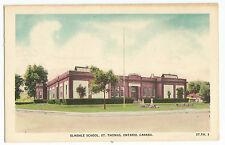 St Thomas Ontario Elmdale School Canada Vintage Postcard