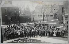 1913~RPPC~Spring Term~Court Yard~Grove City College, PA
