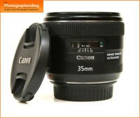Canon EF 35mm F2 Autofocus IS USM Lens   + Free UK Post