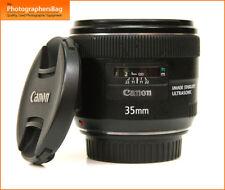 Canon EF 35 mm F2 autofocus IS USM Objectif + GRATUIT UK POSTE