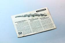 Gebrauchsanweisung Brücken, Pfeiler, Rampen Märklin H0 von 1950 - instructions