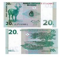 Pick 83 Kongo / Congo 20 Centimes 1997  Unc. / 364397vvv