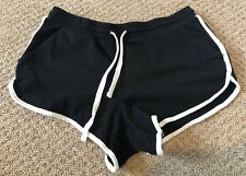 TOPSHOP Black & White Soft Jersey Shorts With Pockets Size 8