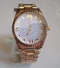 Designer inspired style  bracelet Gold finish Glitter Dial fashion men's watch