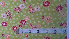 Moda Flower Fabric fat 1/4 flowers 100%cotton scrumptious  green  Moda 55075