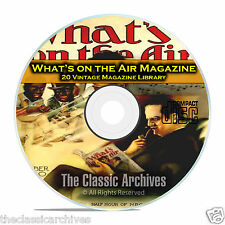 What's On The Air, 20 Vintage Old Time Radio Magazine Collection in PDF CD B95