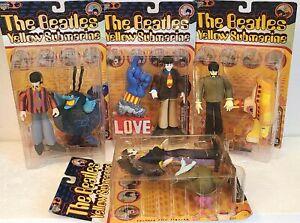 McFarlane Toys THE BEATLES YELLOW SUBMARINE Figures Full Set of 4 NIB 🔹️ (1999)