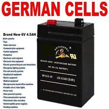 ANTENERGY NEW 6V 4.5AH UPS SLA battery 6 volt High Rate   4AH Toy Electric Bike