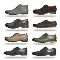 Mens Base London Leather Smart Casual Dress Shoes Boots From £23.99 Free P&P