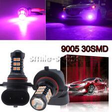 9005 HB3 3030 30SMD LED Fog Lights Bulbs Conversion Kit Super Bright Pink Purple