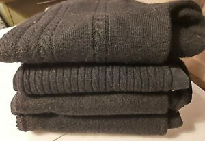 Lot of 4 100% Wool Sweaters for Crafts UpCycle Cutter Fabric 3 lbs Free Shipping