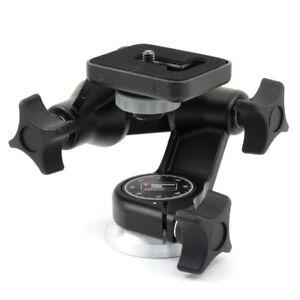 "Manfrotto 056 3-Wege-Kopf Junior Camera Head To 3KG Cameras 1/4 "" Tripod Head"
