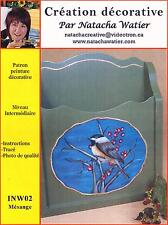 Art Adult Painting Pattern Patron Par Natacha Watier La Mésange French