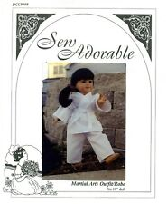 Sew Adorable Doll Clothes Pattern, fits American Girl, Martial Arts Outfit/Robe