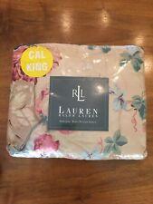 New Ralph Lauren Elsa Grasslands Cream Yellow Floral Fitted Sheet Cal King
