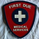 Fire Department First Due  3D routed wood patch plaque sign Custom