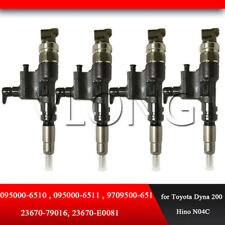Common rail Injector 095000-6520, 095000-6521, 23670-79026, Toyota 200 Hino N04C
