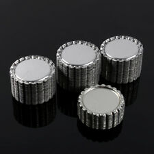 100pcs Silver Flattened Linerless Bottle Cap Bottlecap Crown Flat Crafts DIY
