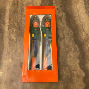 Boston Warehouse  Pumpkin Scare Crow Candle Set of 2 New In Box Halloween