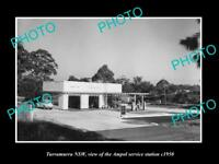 OLD LARGE HISTORIC PHOTO OF TURRAMURRA NSW, AMPOL OIL Co SERVICE STATION c1950