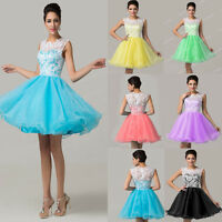 Lace Short Junior Party Prom Evening Cocktail Gown Bridesmaid Bridal Celeb Dress