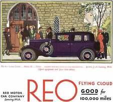 REO 1930 - REO Ad - The REO Flying Cloud Model 20 Sedan
