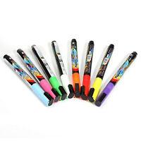 8 pcs Pen Neon LED Neon Chalk Marker Liquid Chalk Pencil Table Bookmark O7B6