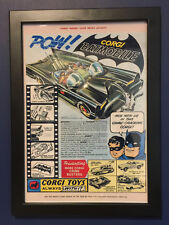 Corgi Toys Framed 267 Batman Batmobile 1966 A4 Size Poster Leaflet Advert Sign