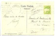 PALESTINE  BRITISH MIL. OCCUP. 1929  PPC  SLOGAN  PM TO  FRANCE F/ VF