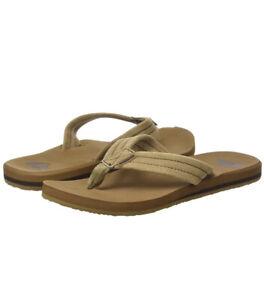 Quiksilver Mens Carver Suede Flip Flop Sandals Size 10