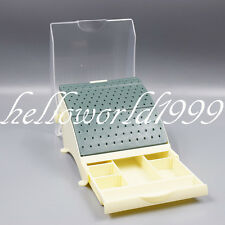 Dental Lab Bur Holder 142 Burs Block Station With Pull Out Drawer FG RA HP Speed