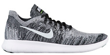 NEW Women's Nike Free RN Flyknit Shoes Size: 12 Color: Black/White