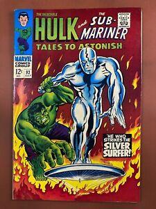 Tales to Astonish #93 Marvel Comics Hulk & Silver Surfer Silver Age