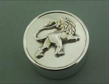 LARGE SILVER PILL BOX OR SMALL TRINKET BOX GARRARD 1997 LEO THE LION