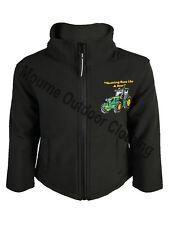 Kids Children's John Deere Tractor Regatta Full Zip Soft Shell Jacket Coat