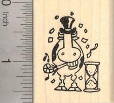 Cow Jumping Rubber Stamp D31219 WM