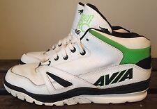 Rare VTG 90's White & Green Leather AVIA ARC SPIDER OG Basketball Mid -Top Sz 11