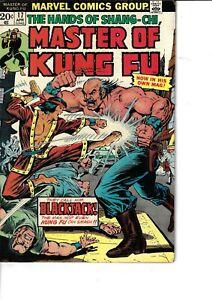 Master Of Kung Fu 17 Shang-Chi Blackjack VG/F 1974 Glossy