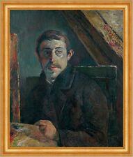 Paul Gauguin Paul Gauguin Künstler Maler Mann Dachstuhl Palette B A3 03007