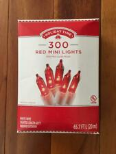 NEW 300 Red Mini Christmas Lights Holiday Time White Wire Indoor Outdoor