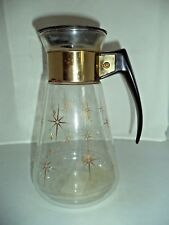 Vintage Corning Atomic Starburst 6-Cup Coffee Carafe/Decanter w/ Lid, Heat Proof