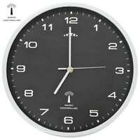 vidaXL Orologio da Parete Radiocontrollato Movimento Quarzo 31 cm Nero Arredo