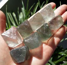 221g 8Pcs Natural octagonal fluorite crystal gem stone original specimens  1024