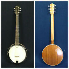 Caraya BJ-006 6-String Guitar Banjo w/Mahogany Resonator+Free Gig Bag
