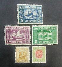nystamps Iceland Stamp # 99//156 Mint OG H $35 F26y766