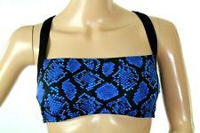 Michael Kors King Cobra Cross Back Women's Blue Bra Top Size S Retail $64