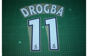 Flocage DROGBA n°11 - OM  MARSEILLE - maillot championnat France Patch Football