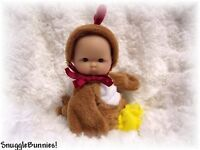 """LIL BABY CHICKEN OUTFIT FITS 5-6"""" BERENGUER REBORN OOAK BABY DOLL !"""