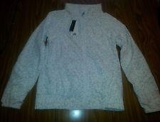 NWT Women's KYODAN White & Grey Windbreaker Running Full Zippered Jacket S
